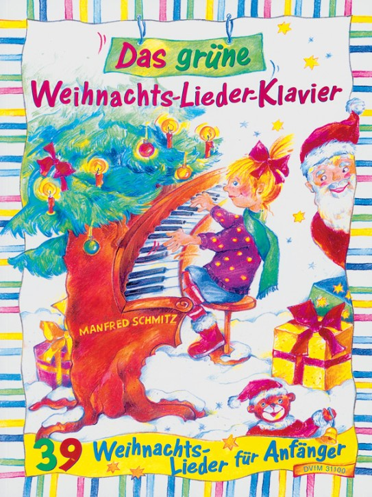 Schmitz, Manfred: Grüne Weihnachts-Lieder-Klav.