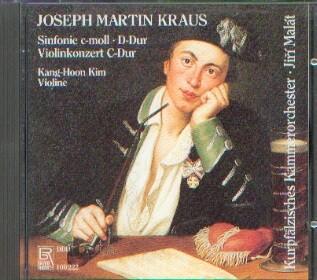 Kraus, Joseph Martin (1756-1792): Sinfonia c-moll - Violinkonzert C-Dur