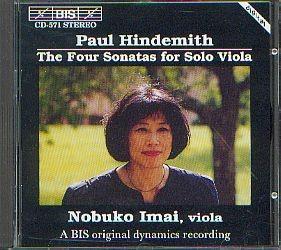 Hindemith, Paul: Vier Sonaten für Bratsche allein