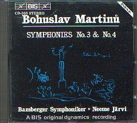 Martinu, Bohuslav: Sinfonie No. 3 und 4
