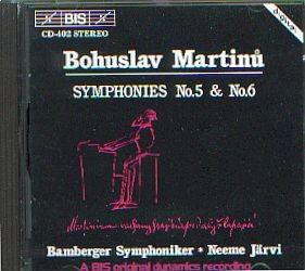 Martinu, Bohuslav: Sinfonie No. 5 und 6