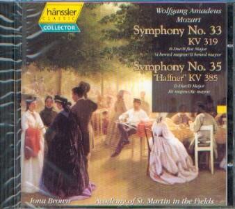 Mozart, Wolfgang Amadeus (1756-1791): Symphony No. 33 und No. 35 Haffner