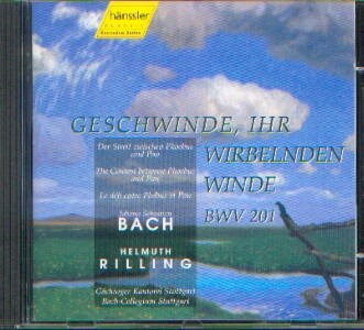 Bach, Johann Sebastian (1685-1750): Geschwinde, ihr wirbelnde Winde BWV 201