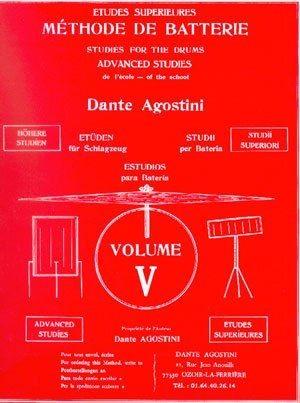 AGOSTINI, DANTE: Methode De Batterie 5 - Etudes Superieures