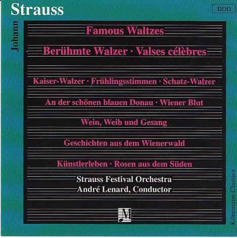 Strauss, Johann: Berühmte Walzer