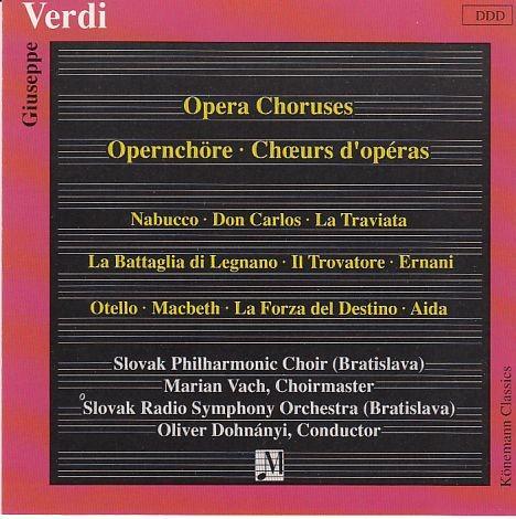 Verdi, Giuseppe: Opernchöre