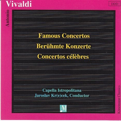 Vivaldi, Antonio: Berühmte Konzerte