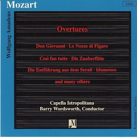 Mozart, Wolfgang Amadeus: Ouvertüren