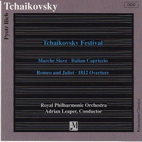 Tschaikovsky, Peter: Tschaikovsky Festival