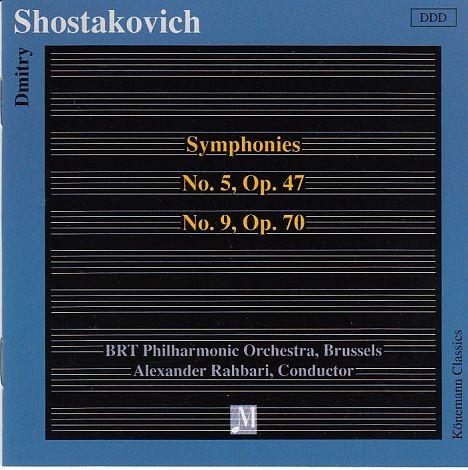 Schostakowitsch, Dimitri: Symphonien No. 5 und  No. 9