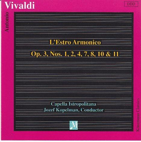 Vivaldi, Antonio: L'Estro Armonico op. 3 No. 1,2,4,7,8,10,