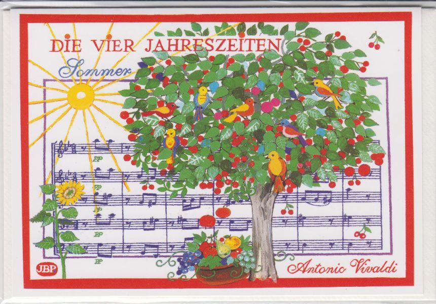 784d74b0fa Doppelkarte: Vivaldi - Sommer (Die vier Jahreszeiten)-77-0425